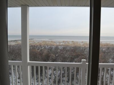 Photo for What views! Beachfront, South Side of duplex, Easy Walk to town, Come enjoy a stress free week.