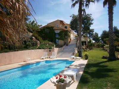 Photo for T2 duplex in a villa, separated entrance, pool, ocean view and landscaped garden