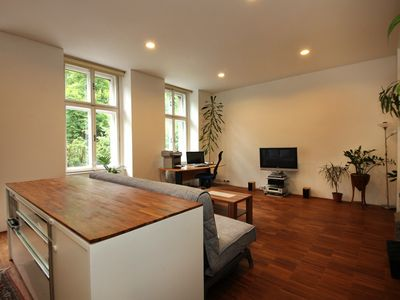 Photo for A stylish and spacious apartment with a beautiful park view, in Prague center
