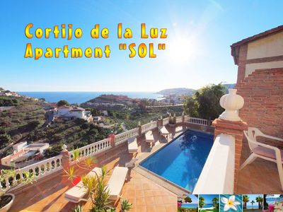 Photo for Pretty apartment *** stunning sea views near the beach *** *** *** Pool BBQ