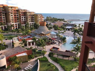 Photo for 5 star luxury resort - 2 bedroom oceanview suite at Villa del Palmar Cancun