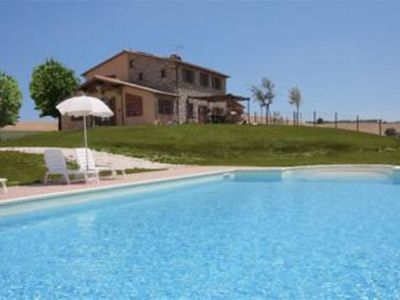 Photo for Independent Tuscan farmhouse completely renovated swimming pool immersed in the countryside a few kilometers from the sea and the city's most famous art