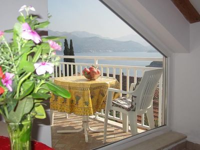 Photo for Island penthouse with a sea view over Dubrovnik, beach 100m away, Wi-Fi, balcony