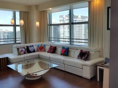 Photo for ★ Port of Miami LUX 2 Bed 2 bath @FREE PARKING Condo-Hotel 1300 sqft by ROSVAL