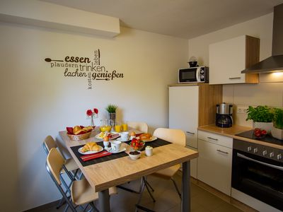 Photo for Comfort holiday apartment with garden, terrace and barbecue near the Saarschleife