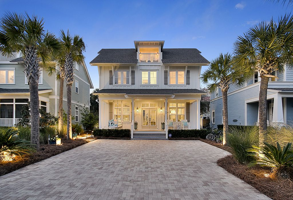 Stunning Seagrove Beach House Community Pool And Gulf View
