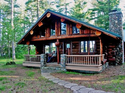 Photo for Superior Log Hideaway - Secluded Log Cabin On Pristine Northern Minnesota Lake