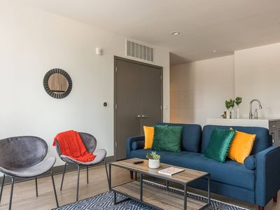 Photo for Vivid + Trendy 2BR Apt in Central Downtown