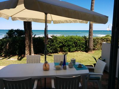Photo for Wonderful home in seafront in Les Rotes (Denia)