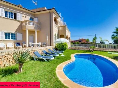Photo for Villa with pool and beautiful sea views in Tolleric, barbecue for 8 people. Mallorca- 80567. - Free Wifi | Offer | 30% | 01/09 - 31/10