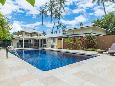 Photo for Luxury Kailua Home 3 Houses from the Beach on a Quiet Beach Lane