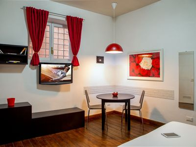 Photo for Loft Pelliccia  apartment in Trastevere with WiFi & air conditioning.