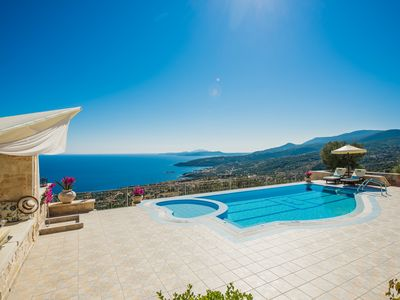 Photo for Stunning secluded villa with private pool and beautiful sea views
