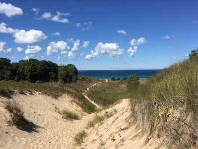 Just a short 15 min walk from the Cottage to Warren Dunes!