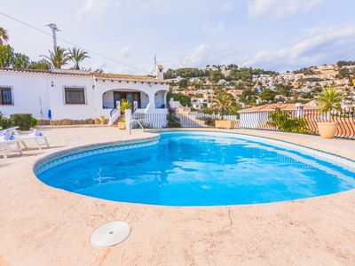 Photo for ROUILLON, rustic villa in Moraira with private pool for 8 guests