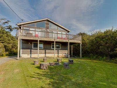Photo for Dog-friendly house with ocean view, private hot tub, and private path to beach