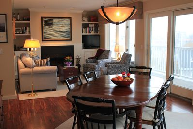 Open concept  - living room and dining room