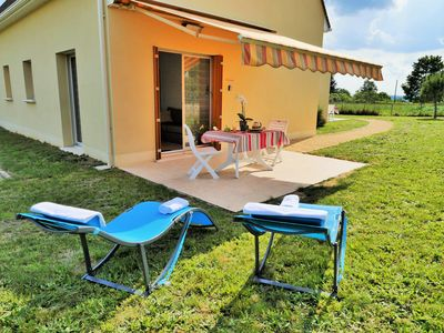 Photo for Le Levant-1 km Sarlat- 2 people, ground foor private terrace-parking-1km from the city center