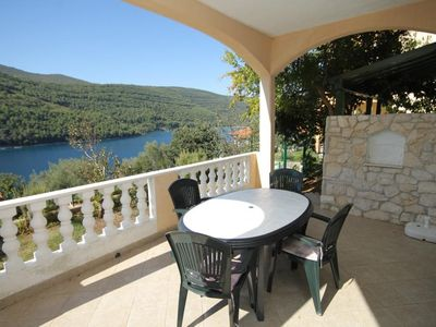 Photo for One bedroom apartment with terrace and sea view Duga Luka (Prtlog) (Labin)