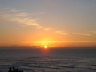 MAGNIFICANT MOON-SUNSETS-beach. Unobstructed views-Taken directly from this unit
