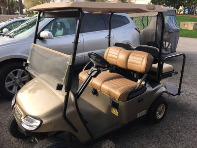 Complimentary golf cart for your enjoyment