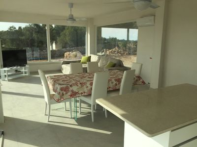 Photo for Beautiful new villa with 8500m2 of land with olive trees