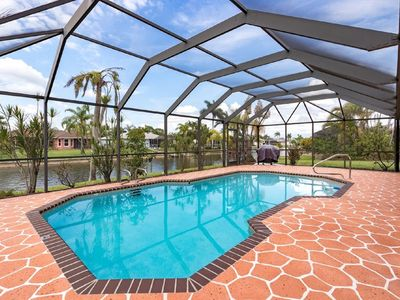 Photo for CAPE CORAL FLORIDA WATERFRONT WITH  HEATED POOL, PRIVATE DOCK
