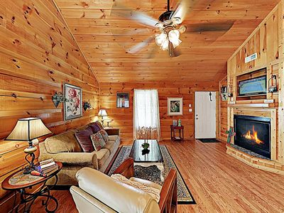 Photo for New Listing! 'Amazing Love' Cabin w/ Cathedral Ceilings - Minutes to Downtown