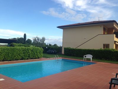 Photo for Nice apartment with swimming pool - Lake Garda