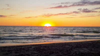 Sunset from our private beach. The best beach on Manasota Key!