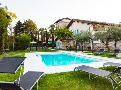 Photo for Romantically Furnished Holiday Apartment Acero with Wi-Fi, Shared Garden & Pool; Parking Available