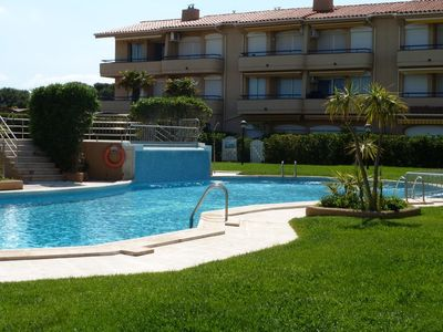 Photo for POOL APARTMENT 50 METERS FROM THE BEACH IDEAL FAMILIES