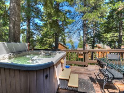 Photo for Hot tub AND Lake Views! Dollar Point HOA (with fees). Tahoe City close by!