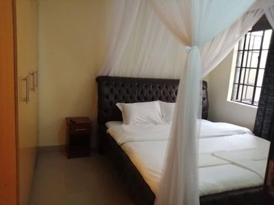A three bed roomed  fully furnished apartment Located in Kisumu Milimani estate.