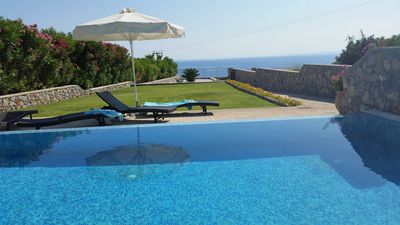 Photo for family friendly rental with large garden. 5 min to Pefkos and 10 min to Lindos.