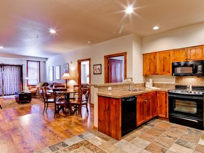 Photo for Beautiful condo close to shopping and skiing w/ shared hot tub and pool!