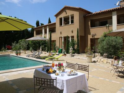 Photo for Bastide cypress for 2 people with swimming pool in the heart of Alpilles- Provence