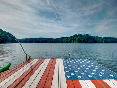Photo for LAKEFRONT Dock Holiday - Hiwassee Lakefront home with Resort Activities!