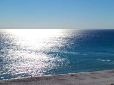 This is your million dollar view from the balcony of Surfside Resort 704!