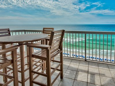 Photo for ***** Voted #1condominium In Silver Beach Jaw Dropping Views C Dolphins! Balcony