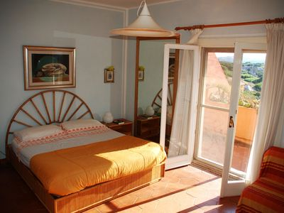 Photo for Spectacular sunsets & seaviews of Bonifacio Straits from 3 terraces