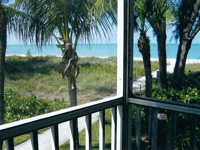 Beautiful view of the Gulf from your lanai and just steps away from the beach.