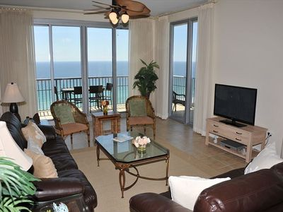 Photo for Beach View Penthouse with Stunning Views. Lagoon Pool, Onsite Fitness Center, Steps to the Sand!