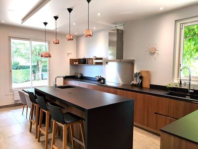 Design Kitchen for foodies! Enjoy the upscale appliances, bar &  breakfast area