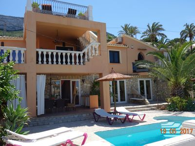 Photo for Luxury villa, heated private pool, sea views, 2-6 persons