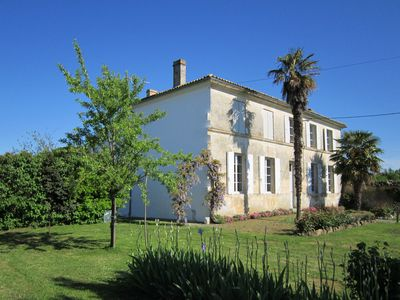Photo for Beautiful house Charente with private garden, 25km from the sea, prox. Royan