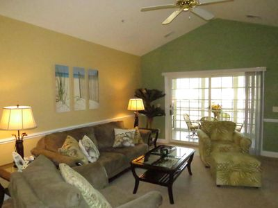 Photo for GOLF COURSE VIEW!! Beautiful 3 BR Top Floor Golf Villa - Elevator Accessible