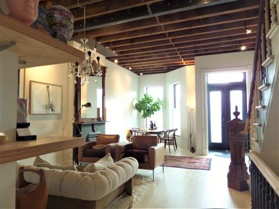 Photo for Designer townhouse in Brownstone Brooklyn with private deck and garden!
