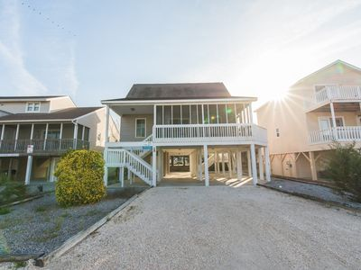 "Photo for 413-5 Mid Island Sunset Beach Home ""Sharks and Minnows"""