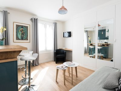 Photo for Cosy studio for 2 in Montorgueil area, close to Centre Pompidou and Palais Royal